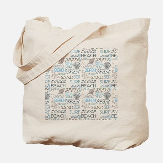 Beach Typography Tote Bag