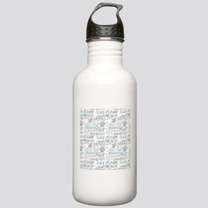 Beach Typography Water Bottle
