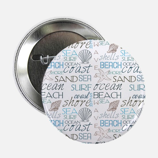 """Beach Typography 2.25"""" Button (10 pack)"""