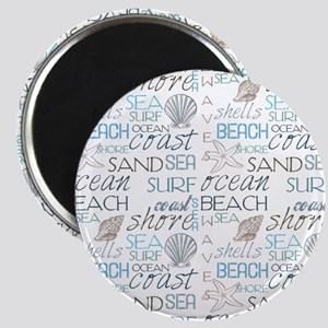 Beach Typography Magnets