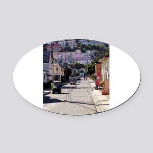 Coming Through Oval Car Magnet