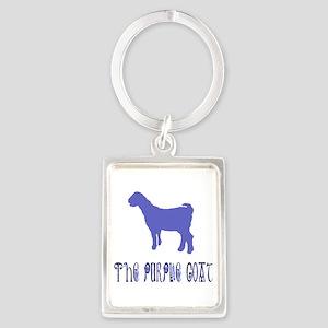The Purple Goat Portrait Portrait Keychain