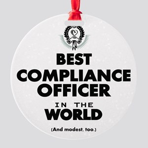 Best Compliance Officer in the World Ornament
