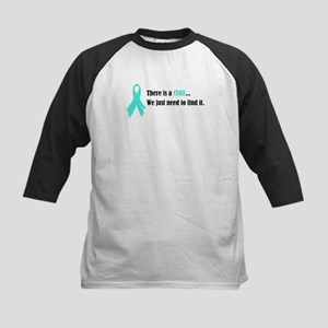 Teal Ribbon Kids Baseball Jersey