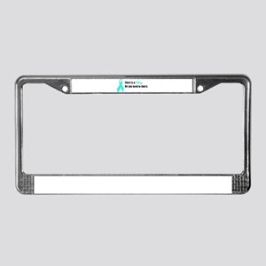 Teal Ribbon License Plate Frame
