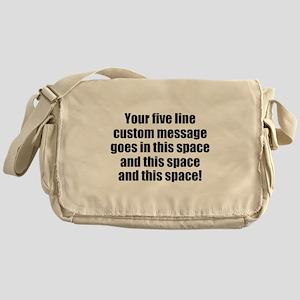 Super Mega Five Line Custom Message Messenger Bag