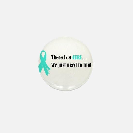 Teal Ribbon Mini Button (10 pack)