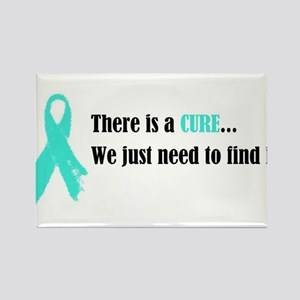 Teal Ribbon Rectangle Magnet