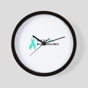 Teal Ribbon Wall Clock