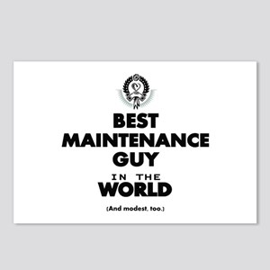Best Maintenance Guy in the World Postcards (Packa