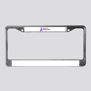 Purple Ribbon License Plate Frame