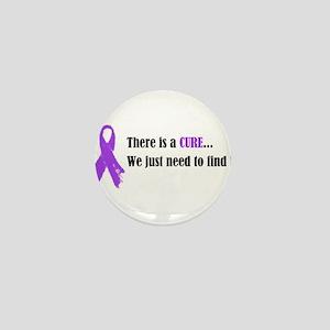 Purple Ribbon Mini Button