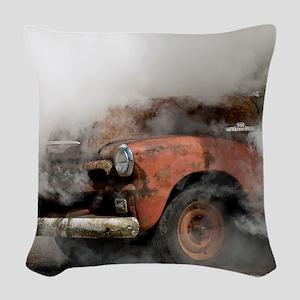 Burnout Pit Woven Throw Pillow