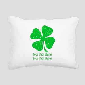 Personalize It, Shamrock Rectangular Canvas Pillow