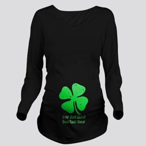 Personalize It, Shamrock Long Sleeve Maternity T-S