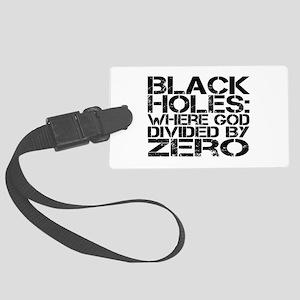 Black Holes Large Luggage Tag