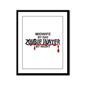 Zombie Hunter - Midwife Framed Panel Print
