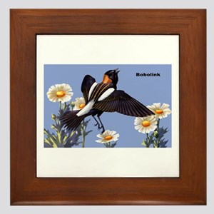 Bobolink Bird Framed Tile
