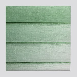 Green faded horizontal panels Tile Coaster