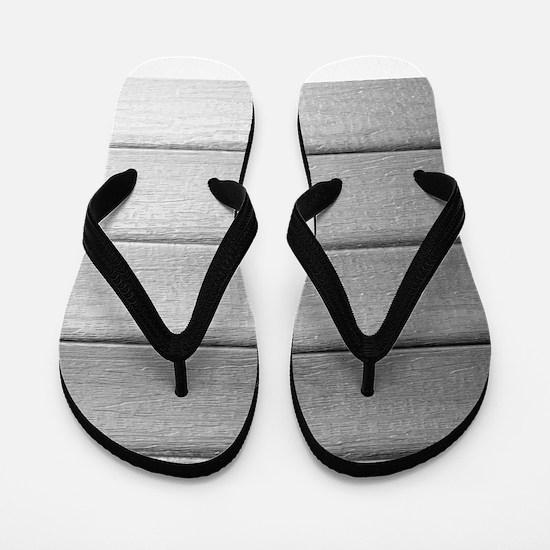 White faded horizontal panels Flip Flops