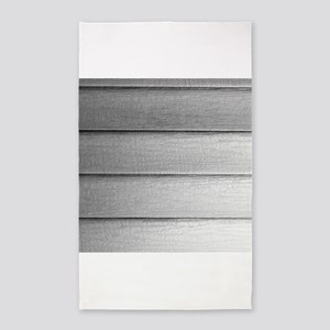 White faded horizontal panels 3'x5' Area Rug