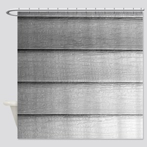 White faded horizontal panels Shower Curtain
