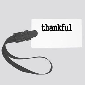 thankful Luggage Tag