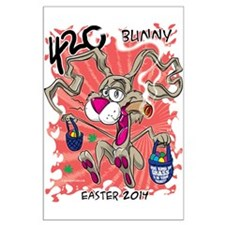 420 Bunny Large Poster