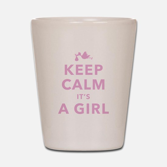 Keep Calm It's A Girl Shot Glass