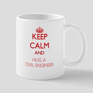 Keep Calm and Hug a Civil Engineer Mugs