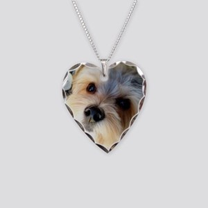 Morkie Love Necklace Heart Charm