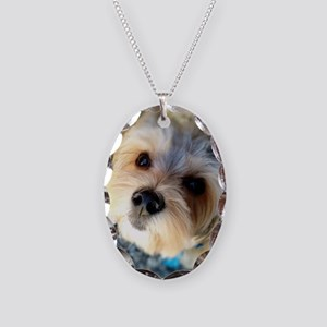Morkie Love Necklace Oval Charm