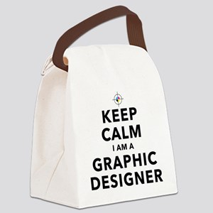 Keep Calm Graphic Designer Canvas Lunch Bag
