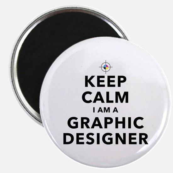Keep Calm Graphic Designer Magnets