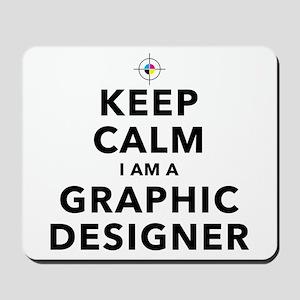 Keep Calm Graphic Designer Mousepad