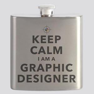 Keep Calm Graphic Designer Flask