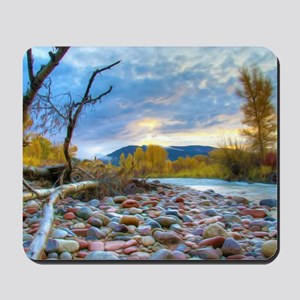 A River With Stones  Mousepad