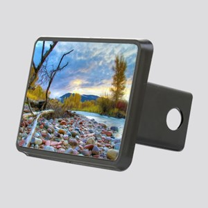 A River With Stones  Rectangular Hitch Cover