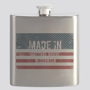 Made in Cottage Grove, Wisconsin Flask