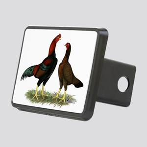 Aseel Black Red Chickens Hitch Cover