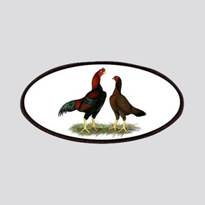 Aseel Black Red Chickens Patches