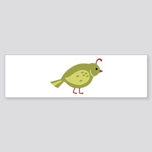 Quail Bird Animal Bumper Sticker