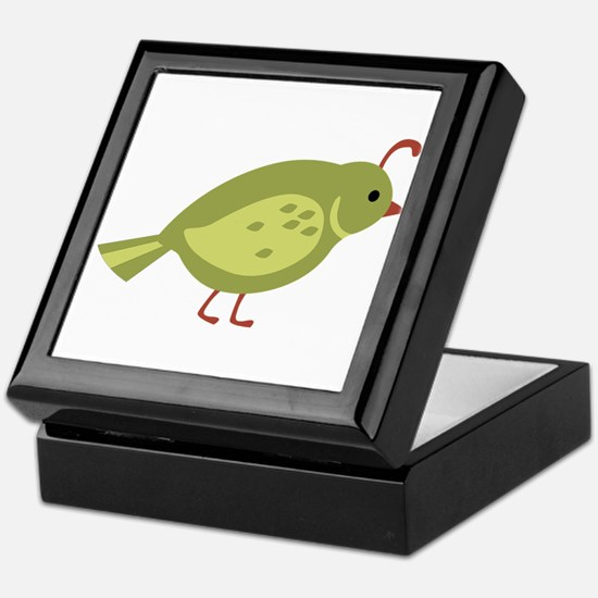 Quail Bird Animal Keepsake Box