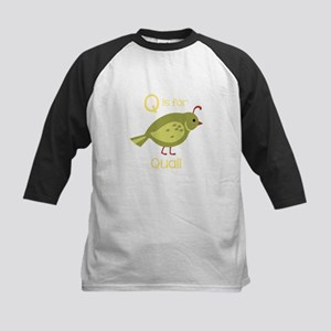 Q is for Quail Baseball Jersey