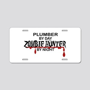 Zombie Hunter - Plumber Aluminum License Plate