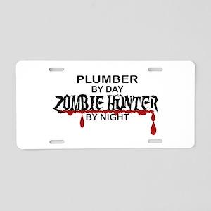 Zombie Hunter - Plumber Aluminum License Plate