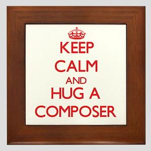Keep Calm and Hug a Composer Framed Tile