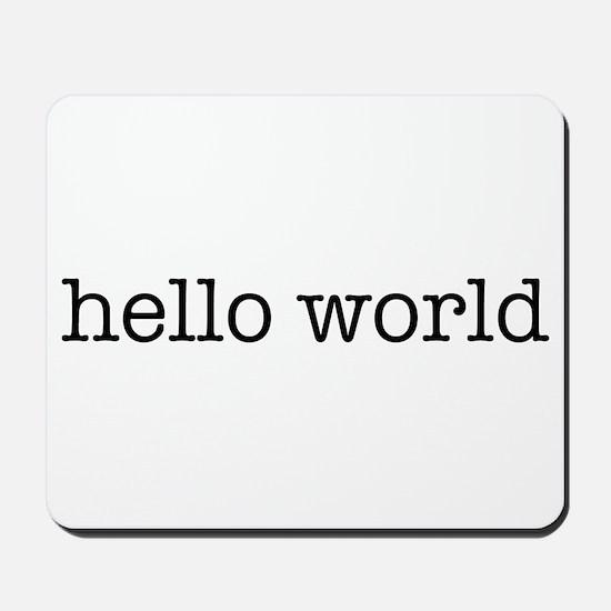 Hello World Mousepad