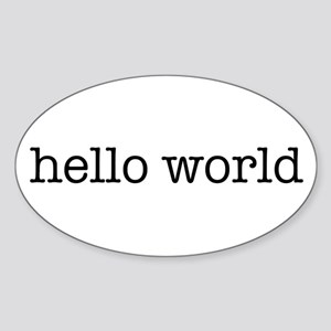 Hello World Oval Sticker