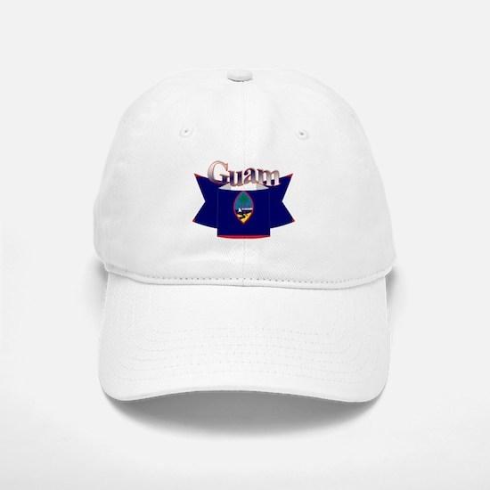 Flag of Guam ribbon Baseball Baseball Cap